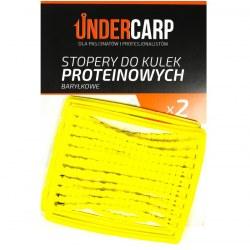 Undercarp Stopery do kulek proteinowych baryłkowe – żółte