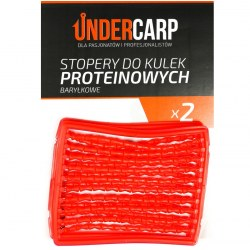Undercarp Stopery do kulek proteinowych baryłkowe – czerwone