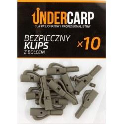 Undercarp Bezpieczny klips brązowy z bolcem