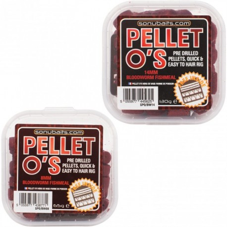 Sonubaits Bloodworm Fishmeal Pellet O's 14mm