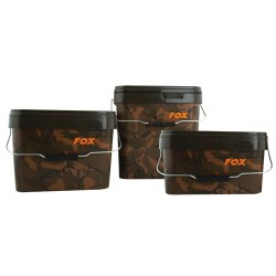 Fox Camo Square Buckets - 15 Litre
