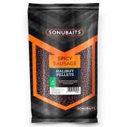 Sonubaits Spicy Sausage Halibut Pellet 4mm 1kg