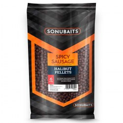 Sonubaits Spicy Sausage Halibut Pellet 6mm 1kg
