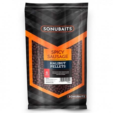 Sonubaits Spicy Sausage Halibut Pellet 6mm 1kg
