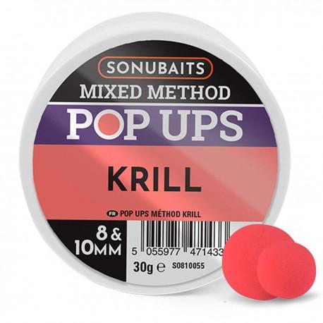 Sonubaits Mixed Method Pop Ups 8mm & 10mm - Krill