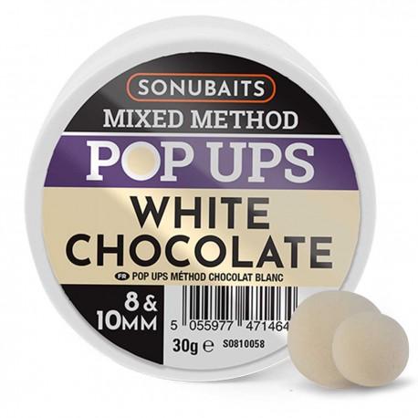 Sonubaits Mixed Method Pop Ups 8mm & 10mm - White Chocolate