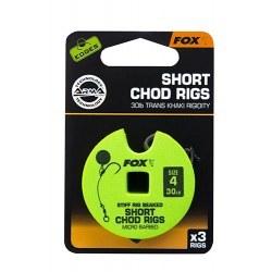 Fox Chod Rigs Short 30lb size 4