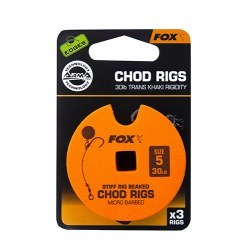 Fox Chod Rigs Standard 30lb size 5