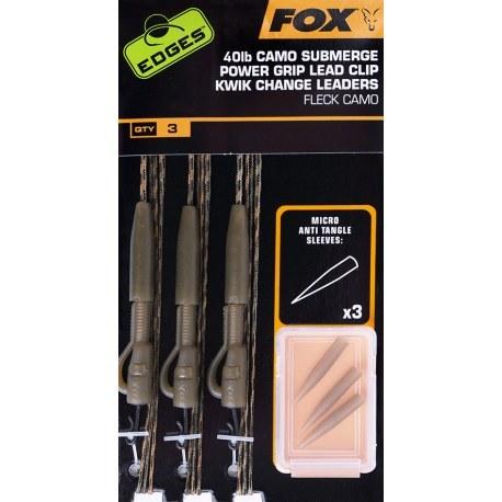 Fox Submerge Camo Lead Clip Kwik Change 40lb Kit x3