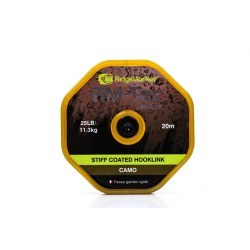 Ridge Monkey RM Tec Stiff Coated Hooklink 25lb Camo