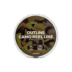Avid Carp Outline Camo Reel Line 0,33mm/15lb 300m