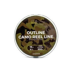 Avid Carp Outline Camo Reel Line 0,35mm/18lb 300m